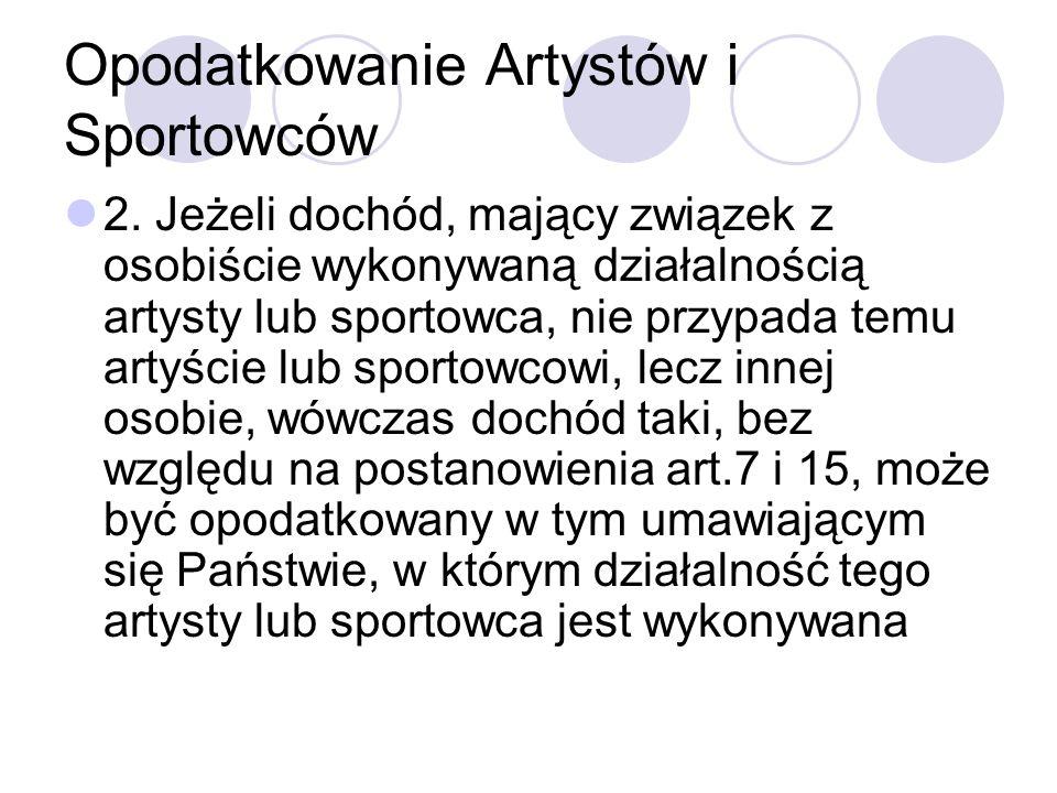 Opodatkowanie Artystów i Sportowców 2.