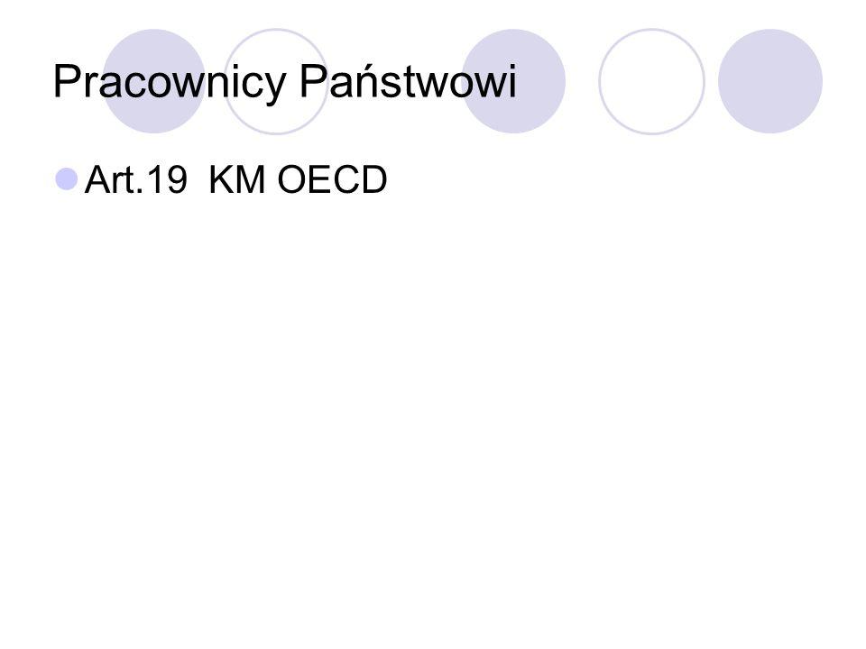 Pracownicy Państwowi Art.19 KM OECD