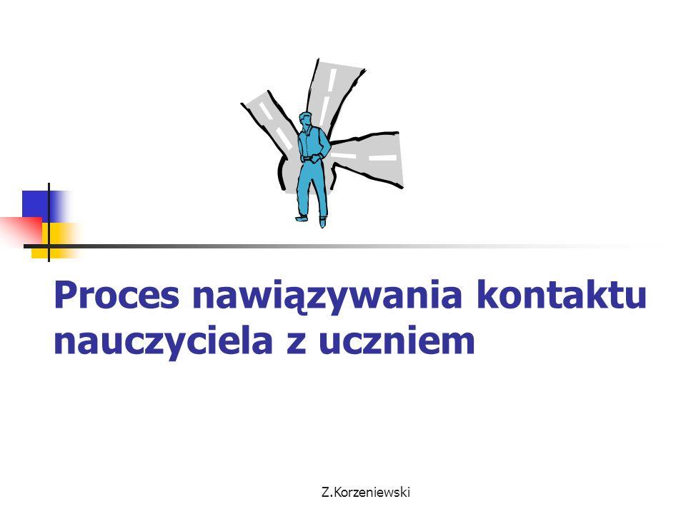 Z.Korzeniewski Proces nawiązywania kontaktu nauczyciela z uczniem