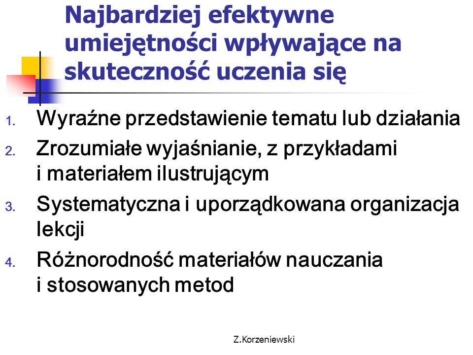Z.Korzeniewski Jak kształtują się relacje nauczyciel – uczeń.