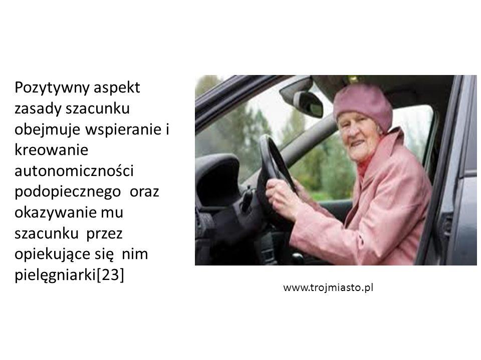 www.trojmiasto.pl Pozytywny aspekt zasady szacunku obejmuje wspieranie i kreowanie autonomiczności podopiecznego oraz okazywanie mu szacunku przez opi