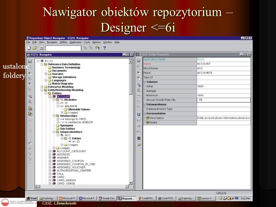 CASE, L.Banachowski Nawigator obiektów repozytorium – Designer <=6i ustalone foldery