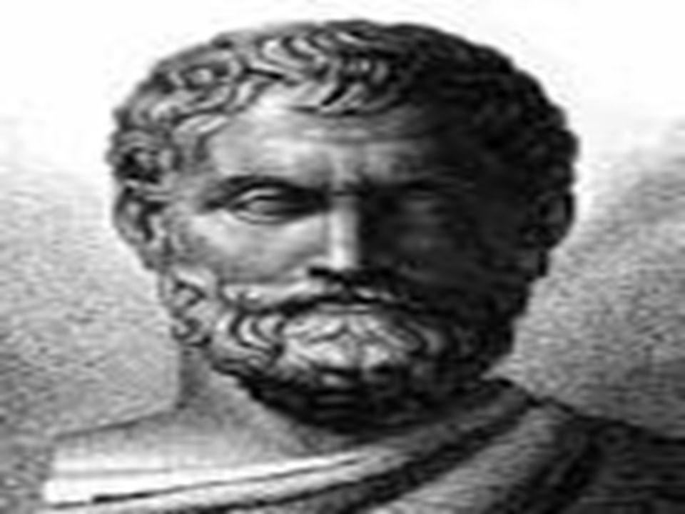 Tales z Miletu Urodził się ok.620r.p.n.e. Opracował teorię dotyczącą geometrii m.in.