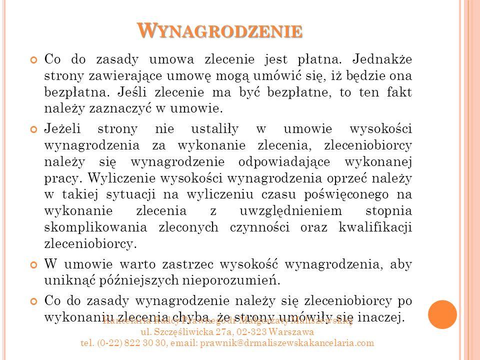 D ZIĘKUJĘ ZA UWAGĘ .Kancelaria Radcy Prawnego dr Małgorzaty Maliszewskiej ul.