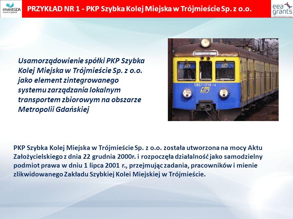 PRZYKŁAD NR 1 - PKP Szybka Kolej Miejska w Trójmieście Sp.