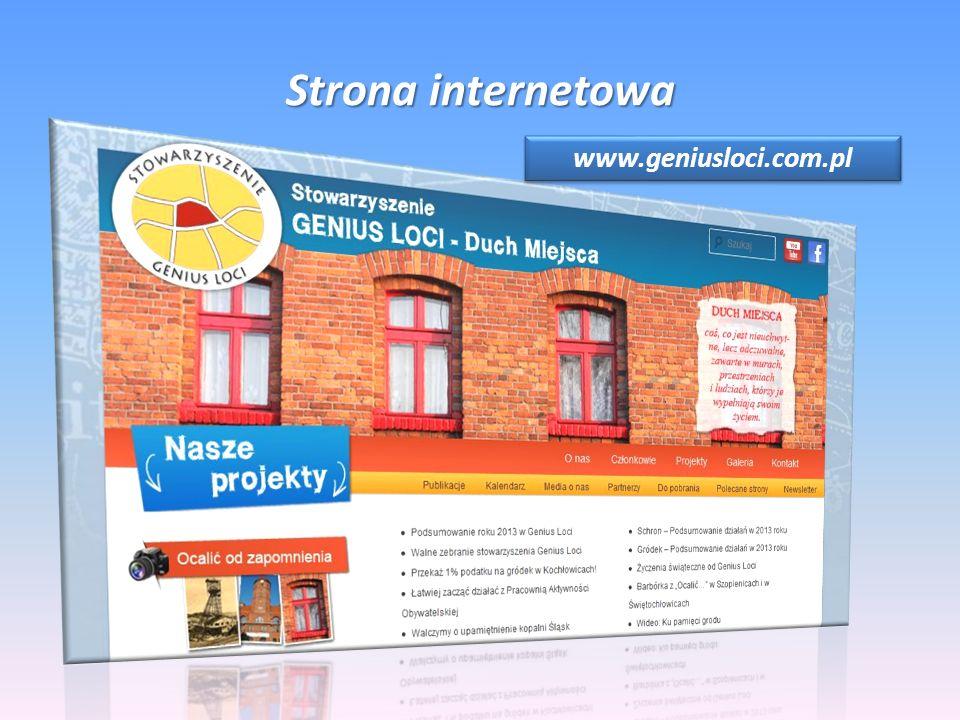 Strona internetowa www.geniusloci.com.pl