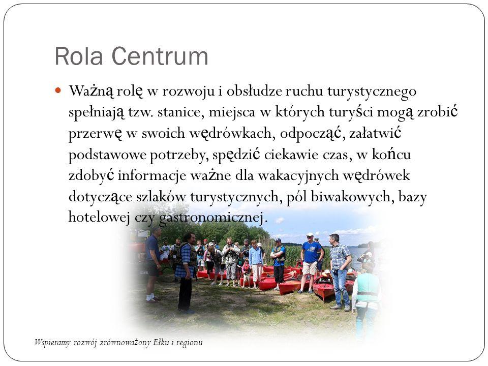 Rola Centrum Wa ż n ą rol ę w rozwoju i obsłudze ruchu turystycznego spełniaj ą tzw.