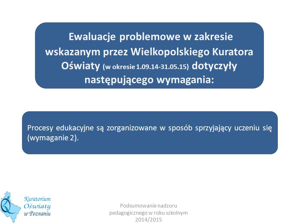 Podsumowanie nadzoru pedagogicznego w roku szkolnym 2014/2015 WYMAGANIA WOBEC SZKÓŁ PODSTAWOWYCH 1.2.3.4.5.6.7.8.9.10.11.12.