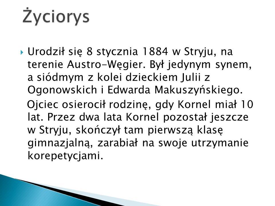 UUrodził się 8 stycznia 1884 w Stryju, na terenie Austro-Węgier.
