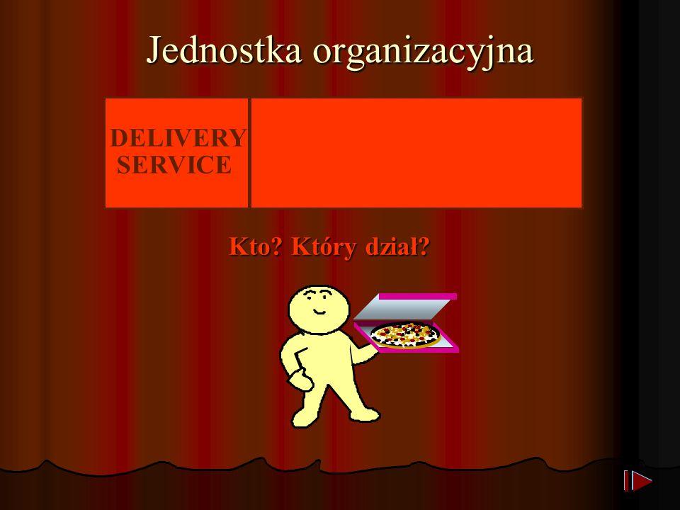 Jednostka organizacyjna DELIVERY SERVICE Kto Który dział