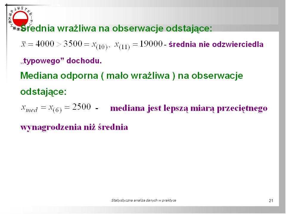 Statystyczna analiza danych w praktyce 21