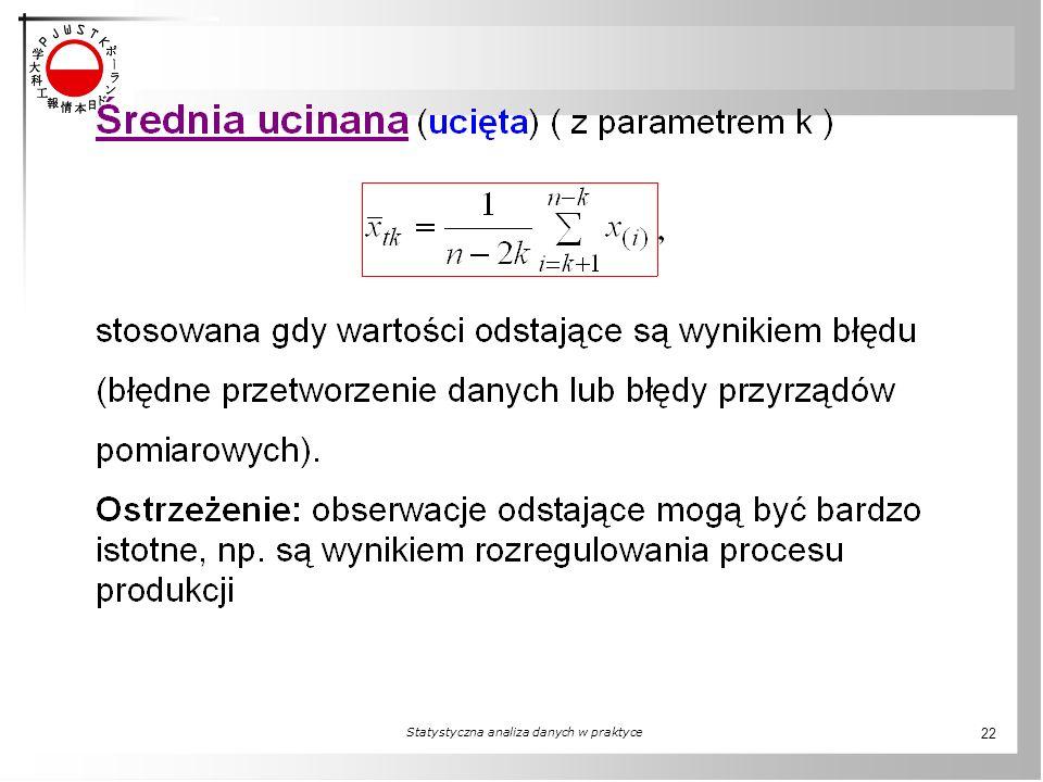 Statystyczna analiza danych w praktyce 22