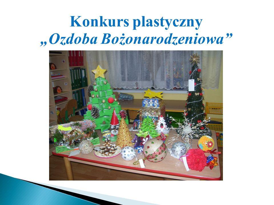 """Konkurs plastyczny """"Ozdoba Bożonarodzeniowa"""""""