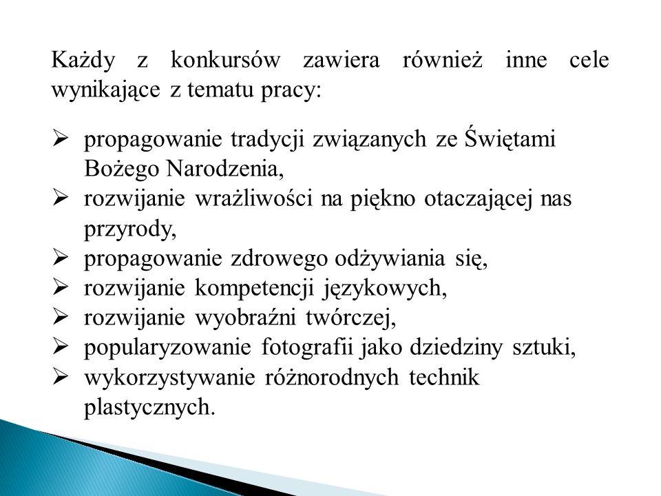 Przebieg konkursów 1.Ogłoszenie konkursu w przedszkolu i na stronie internetowej wraz z regulaminem.