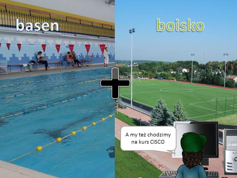 Nasza szkoła posiada boisko, salę gimnastyczną i basen.