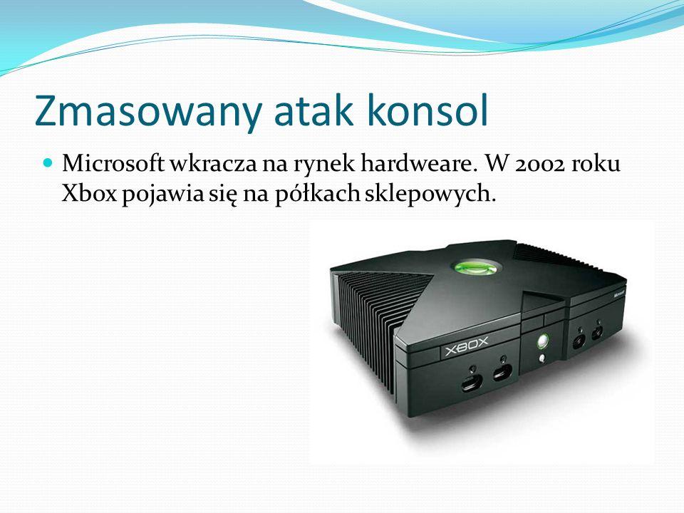 Zmasowany atak konsol Microsoft wkracza na rynek hardweare. W 2002 roku Xbox pojawia się na półkach sklepowych.