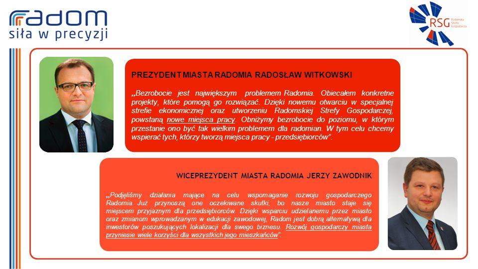PREZYDENT MIASTA RADOMIA RADOSŁAW WITKOWSKI,,Bezrobocie jest największym problemem Radomia.