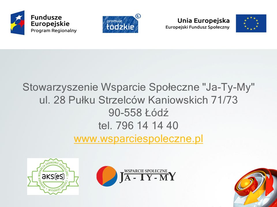 Stowarzyszenie Wsparcie Społeczne Ja-Ty-My ul.