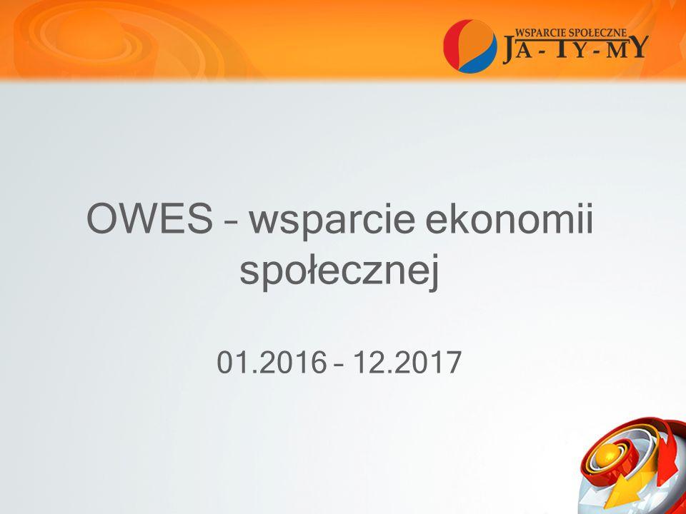 OWES – wsparcie ekonomii społecznej 01.2016 – 12.2017
