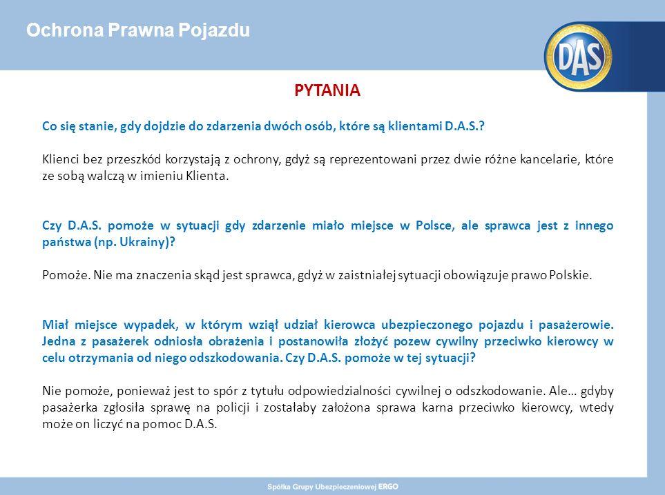 Ochrona Prawna Pojazdu PYTANIA Co się stanie, gdy dojdzie do zdarzenia dwóch osób, które są klientami D.A.S..