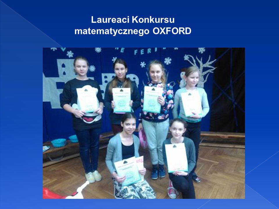 Laureaci Konkursu matematycznego OXFORD