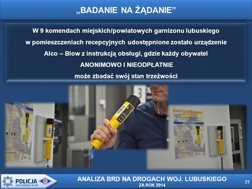 """""""BADANIE NA ŻĄDANIE 77 KWP GORZÓW WLKP."""