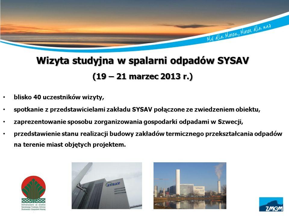 Wizyta studyjna w spalarni odpadów SYSAV (19 – 21 marzec 2013 r.) blisko 40 uczestników wizyty, spotkanie z przedstawicielami zakładu SYSAV połączone