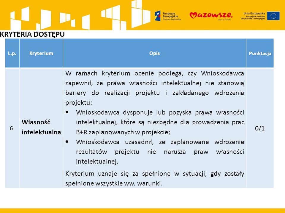 L.p.KryteriumOpis Punktacja 6.6.
