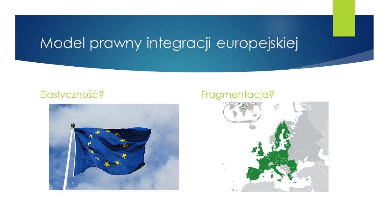 Model prawny integracji europejskiej Elastyczność?Fragmentacja?