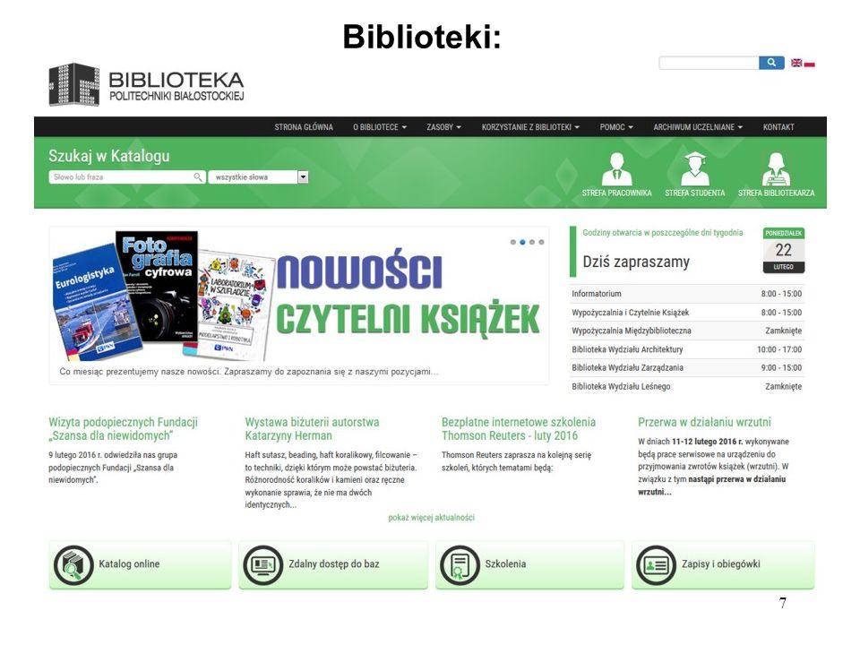 7 Biblioteki: