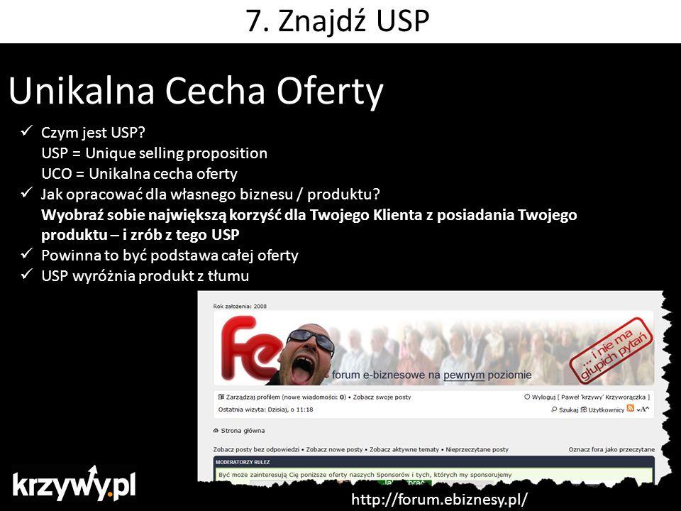 Unikalna Cecha Oferty Czym jest USP? USP = Unique selling proposition UCO = Unikalna cecha oferty Jak opracować dla własnego biznesu / produktu? Wyobr