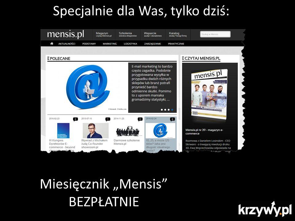 """Specjalnie dla Was, tylko dziś: Miesięcznik """"Mensis"""" BEZPŁATNIE"""