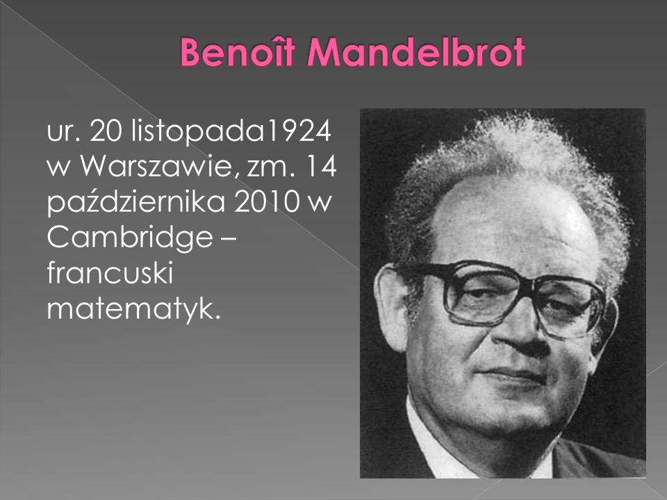 ur. 20 listopada1924 w Warszawie, zm. 14 października 2010 w Cambridge – francuski matematyk.
