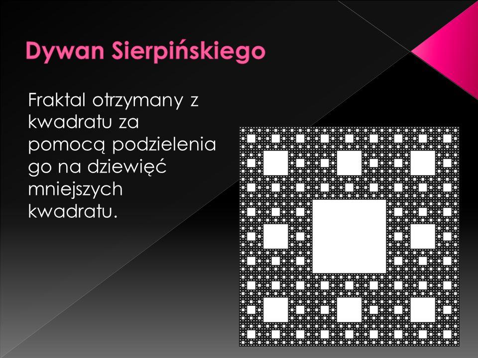 Fraktal otrzymany z kwadratu za pomocą podzielenia go na dziewięć mniejszych kwadratu.