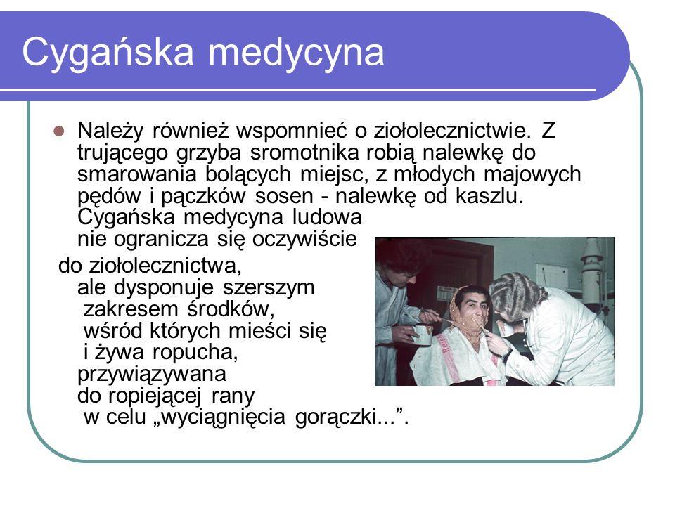 Cygańska medycyna Należy również wspomnieć o ziołolecznictwie.