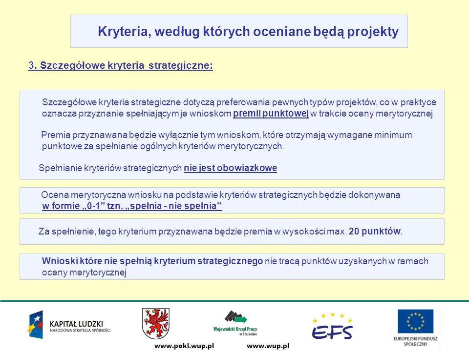www.wup.plwww.pokl.wup.pl Kryteria, według których oceniane będą projekty 3.