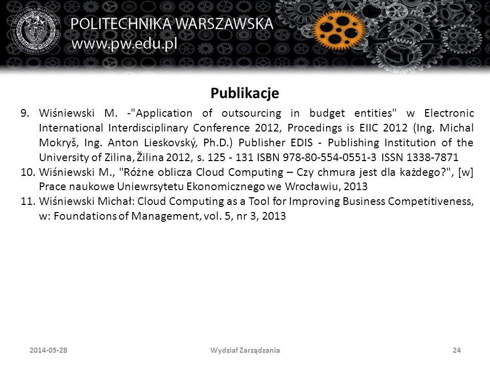 Wydział Zarządzania242014-05-28 Publikacje 9.Wiśniewski M.