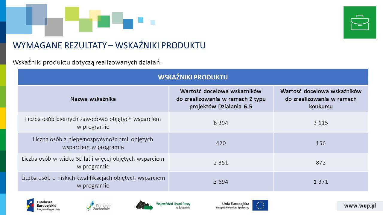 www.wup.pl ETAPY OCENY WNIOSKOW O DOFINANSOWANIE OCENA BRAKÓW FORMALNYCH 14 dni OCENA FORMALNO- MERYTORYCZNA ETAP II - KRYTERIA JAKOŚCI - KRYTERIA PREMIUJĄCE 50 dni ETAP I - KRYTERIA DOPUSZCZALNOŚCI - KRYTERIA WYKONALNOŚCI - KRYTERIA ADMINISTRACYJNOŚCI 56 dni Czas trwania oceny dokumentacji aplikacyjnej – ok.