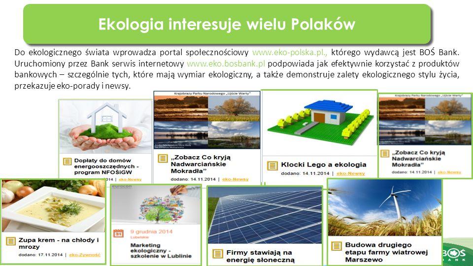 Slajd 3 z 20 Do ekologicznego świata wprowadza portal społecznościowy www.eko-polska.pl., którego wydawcą jest BOŚ Bank.