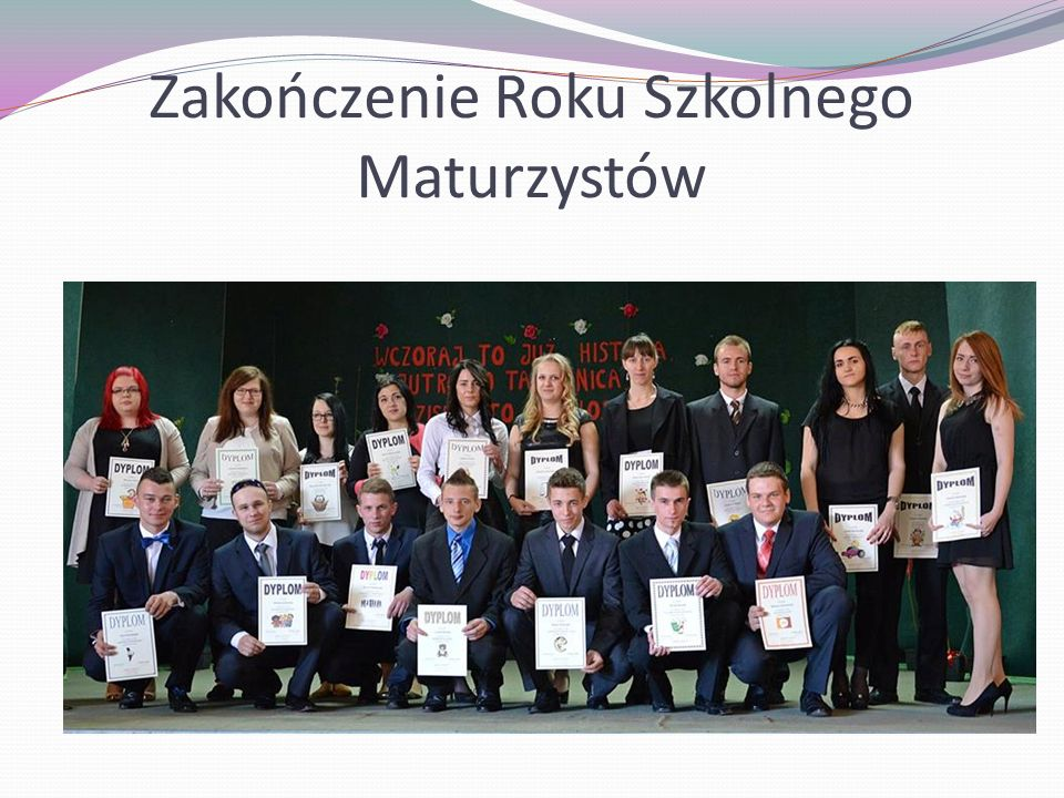 Zakończenie Roku Szkolnego Maturzystów