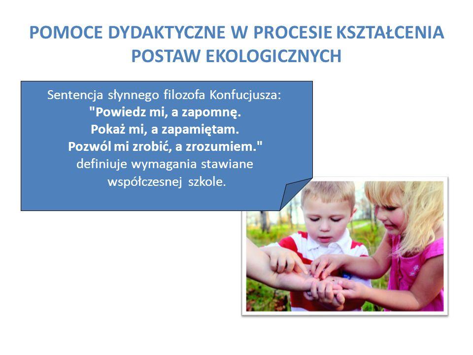 W procesie dydaktycznym nauczyciel powinien łączyć teorię z praktycznymi działaniami wspartymi odpowiednio dobranymi pomocami naukowymi.