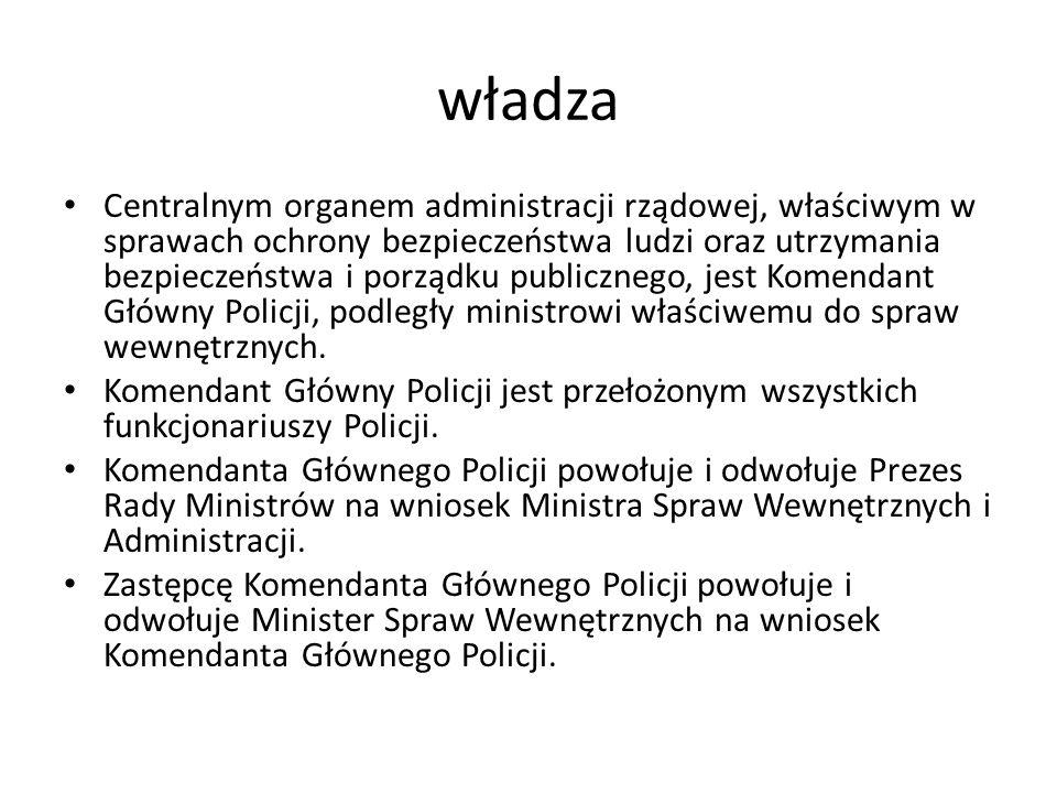 władza Centralnym organem administracji rządowej, właściwym w sprawach ochrony bezpieczeństwa ludzi oraz utrzymania bezpieczeństwa i porządku publiczn