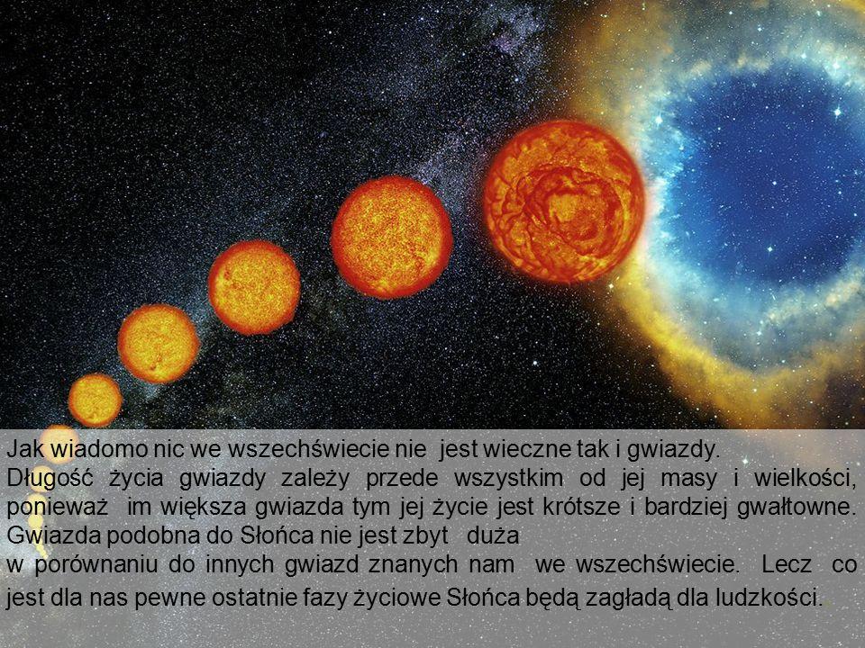 Jak wiadomo nic we wszechświecie nie jest wieczne tak i gwiazdy. Długość życia gwiazdy zależy przede wszystkim od jej masy i wielkości, ponieważ im wi