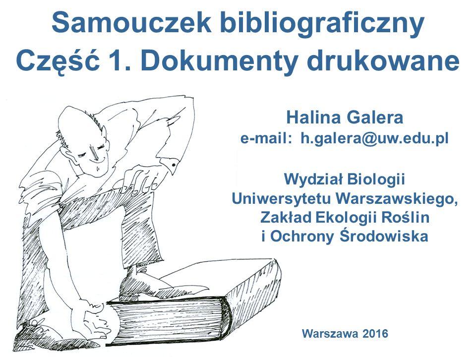 Samouczek bibliograficzny Część 1.