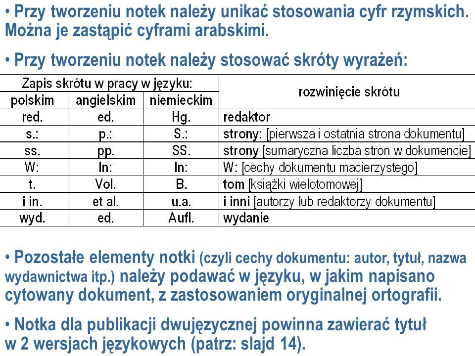 Nazwisko I.rok. Tytuł publikacji. W: Nazwisko I. (red.), Tytuł materiałów.