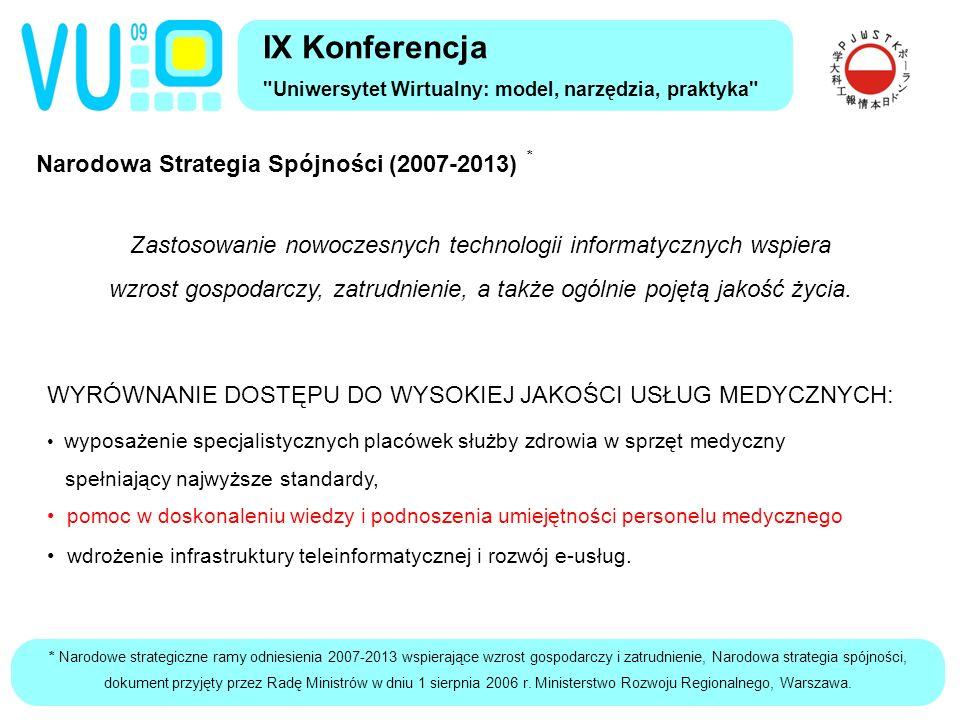 * Narodowe strategiczne ramy odniesienia 2007-2013 wspierające wzrost gospodarczy i zatrudnienie, Narodowa strategia spójności, dokument przyjęty przez Radę Ministrów w dniu 1 sierpnia 2006 r.