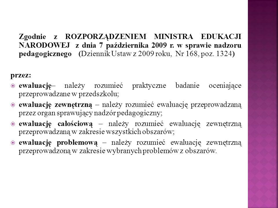 Zgodnie z ROZPORZĄDZENIEM MINISTRA EDUKACJI NARODOWEJ z dnia 7 października 2009 r.