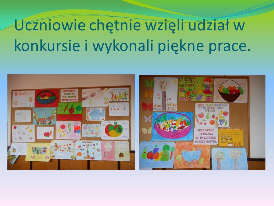 Uczniowie chętnie wzięli udział w konkursie i wykonali piękne prace.