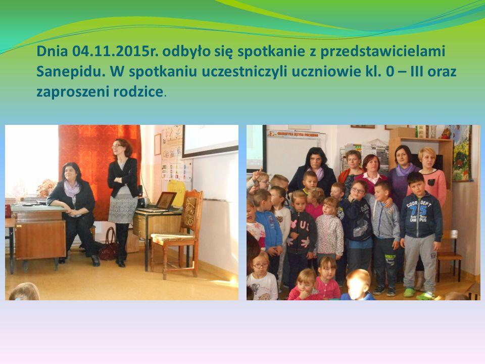 Dnia 04.11.2015r. odbyło się spotkanie z przedstawicielami Sanepidu.