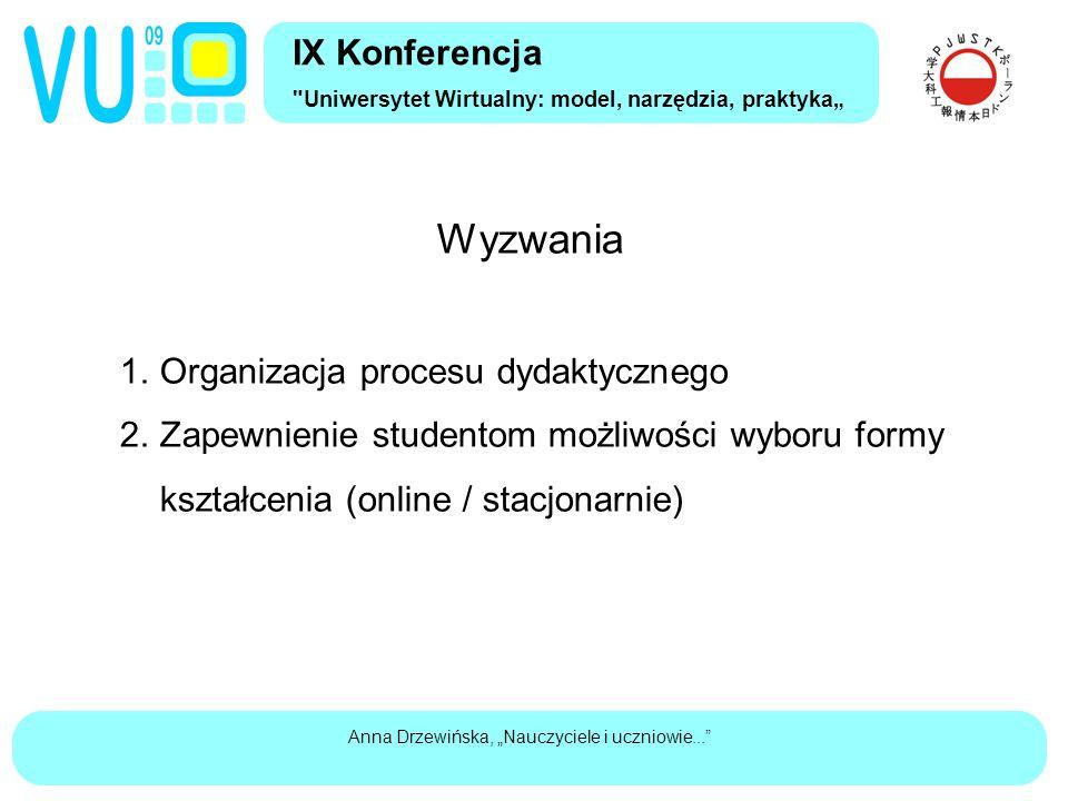 """Anna Drzewińska, """"Nauczyciele i uczniowie... Wyzwania 1."""